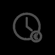 Een klokje met een euroteken