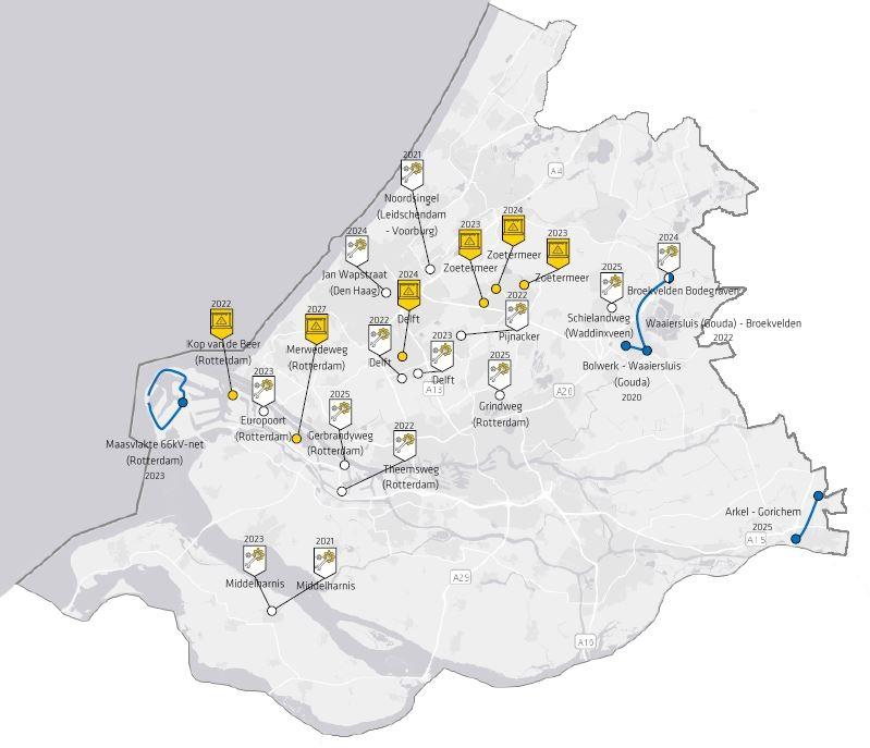 Investeringskaart provincie Zuid-Holland